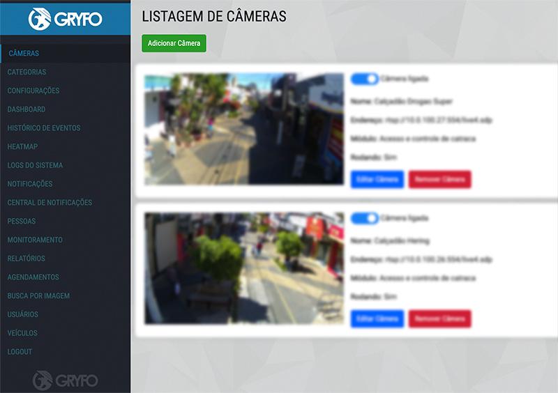 Listagem de Cameras